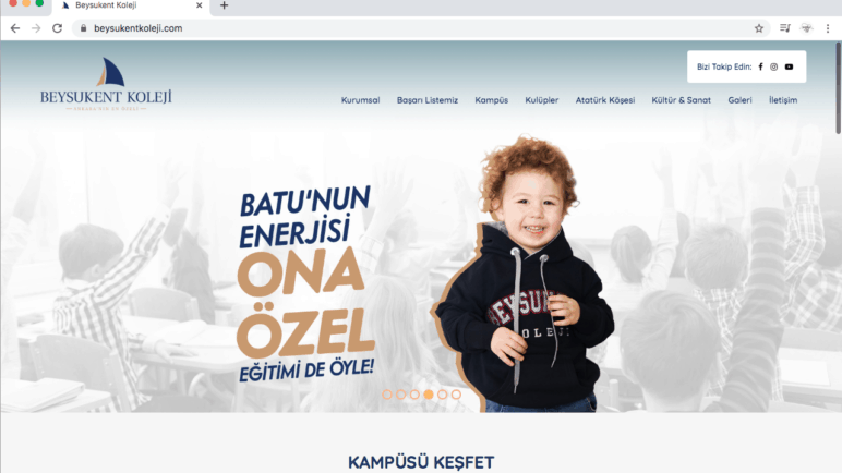 Beysukent Koleji Web Sitesi